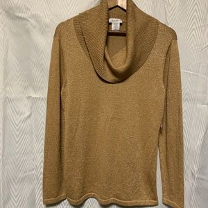 Kate Hill long sleeve cowl neck sweater size M